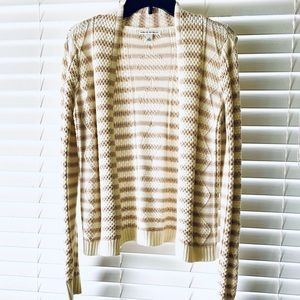 Banana Republic Striped Cable Knit Cardigan